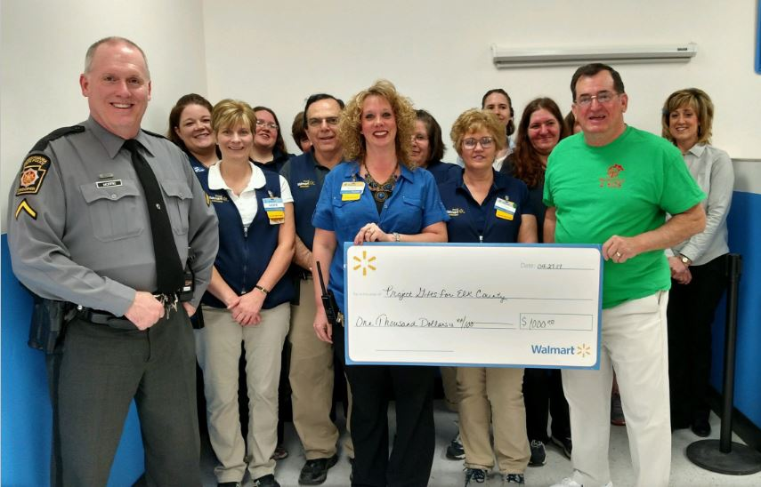 Project Gifts for Elk County thru the Wal-Mart Community Grant Program was awarded $1000.00