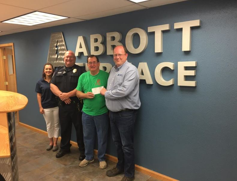 Check received from Abbott Furnace